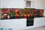 Kuchnia z grafiką panel szklany